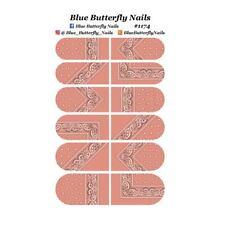 #1174 - Peach Paisley Bandanna Bandana Nail Water Decals