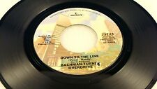 BACHMAN TURNER OVERDRIVE - Down To The Line / She's A Devil - 1975 NEAR MINT- 45