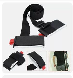 Adjust Ski Carrier Holder Carrying Sling Strap Carry Tie Poles Shoulder Handle 2