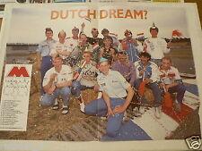 A279-DUTCH DREAM 1991 MOTO POSTER ZEELENBERG,KUYT,DONGEN,SPAAN,KEMPEN,MOLENAAR,