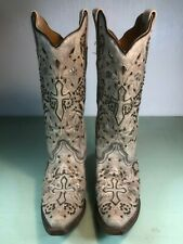 Women's Corral Leather Boots with a Cross Stitched on boots size 7M
