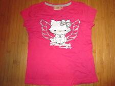 Tee-shirt rose avec motif Chat sur l'avant,T6ans,marque Sanrio,Neuf!