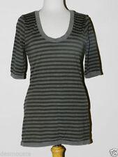 metalicus Regular Size Striped Short Sleeve Tops for Women