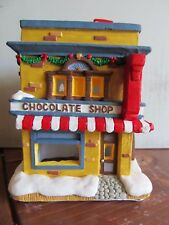 Holiday Time Christmas Village Hand Painted Chocolate Shop 10402 Cali Creations