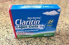 New Non-Drowsy Claritin Liqui Gels Indoor Outdoor Pet Pollen Allergies 24hr 10CT