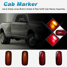 Amber & Red Lens Dually Side Marker Fender Lights Fit 03-09 Dodge Ram3500 Pickup