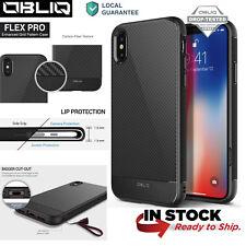 OBLIQ® iPhone X, iPhone 10[Flex Pro] Black Shockproof Slim Protective  Cover Cas