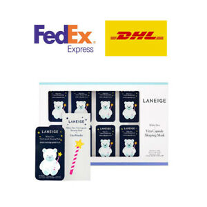 Laneige White Dew Vita Capsule Sleeping Mask Whitening Brightening K-Beauty Care