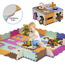 Soft Eva Baby Kids Game Gym Play Mat W/Fence Crawling Carpet Kids Floor Rug Pad