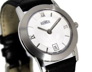 Roamer Women's Watch 5mm Flat Sapphire Glass Swiss Made Steel Ref.526280 27,5 MM