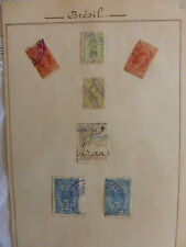 TIMBRES FISCAUX .  BRESIL  7 timbres anciens