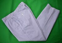 Brooks Brothers Blue/White Striped 100% Cotton Seersucker Casual Pants Sz: 36x30