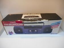 Vintage NOS GPX C940D Portable Stereo Dual Cassette Radio Recorder/Player