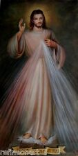 Handmade Oil Painting repro Divine Mercy - Jesus, I trust in You