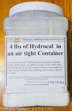 H & J Trains (4lbs of Color Hydrocal WHITE) Air Tight Container