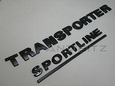 CARBON FIBRE VW TRANSPORTER T5 SPORTLINE CARAVELLE REAR BACK BADGE CAMPER VAN