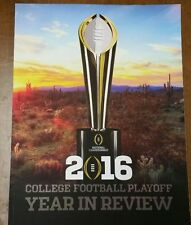 2016 NATIONAL CHAMPIONSHIP : COLLEGE FOOTBALL PLAYOFF YEAR IN REVIEW  Program