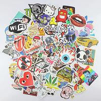 100 stickers Skateboard Vintage Vinyl Sticker Laptop Luggage Car Decals mix Fast