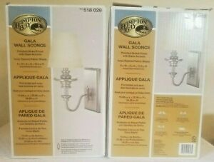 Hampton Bay Gala Light Polished Nickel Wall Sconce new opened box lot of 2