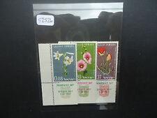 Israel 1963 Flowers (3v Set With Tabs) (SG 257-259) MNH (52526)