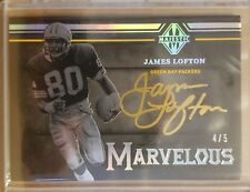 James Lofton 2018 Majestic Auto Autograph card #'d 4/5 Green Bay Packers HOF