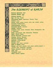 Book of Shadows Spell Pages ** The Four Elements and the Spirit Correspondences