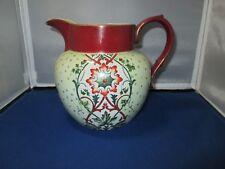 Antique EL UNICO water pitcher Red Dragon stamp