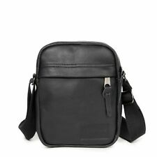 EASTPAK - The One Black Ink Leather Unisex Small Messenger Bag - NEW