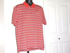 ADIDAS CLIMA COOL Men's NWOT Red, Black, & White Stripe L Polo Polyester