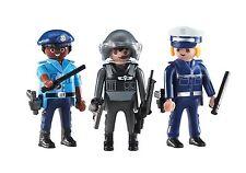 PLAYMOBIL 6501 Tres Policia Police Fuerzas de Seguridad Ciudad City NUEVO / NEW