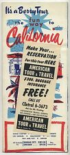 Vintage 1953 Tourism Brochure : CALIFORNIA by Berry Tours