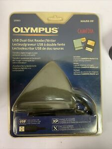 Olympus Camedia USB Dual-Slot Reader/Writer MAUSB-SW  New in Package 2002