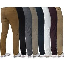 Mens Slim Fit Chinos Trousers Jeans Skinny Stretch Pants Kruze All Waist Sizes
