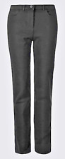 """BNWT M & S PANTS JEANS SIZE 28 BLACK WAIST 50.25"""" STRAIGHT FROM KNEE TO HEM"""