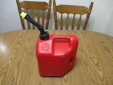 Vintage 2 Gallon 8 Ounce Blitz Self Venting Old Style Gas Can Plastic Fuel Jug