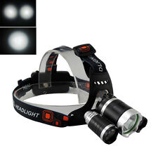 13000LM XM-L T6 White+2R2 LED Rechargeable 18650 Headlamp Headlight Torch