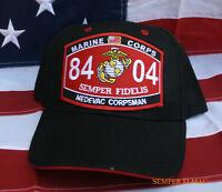 MOS 8404 MEDEVAC CORPSMAN HAT US NAVY HN CAP DOC MEDIC USS WOWNH HOSPITAL FMF