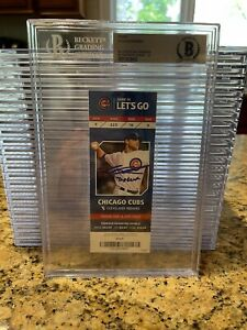 Kyle Schwarber Signed 6/16/15 MLB Debut Chicago Cubs Full Ticket Beckett RARE 3