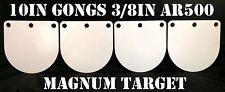"""10in 3/8"""" AR500  Hardened Metal Gongs -  Steel Shooting Range NRA Pistol Targets"""