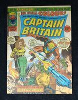 CAPTAIN BRITAIN #11 * High Grade* Psylocke at the Stak Marvel Comics 1976 10p