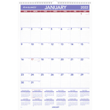 At A Glance Monthly Wall Calendar 15 12 X 22 34 2022 Pm328 Wall