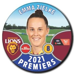 2021 AFLW Premiers Player Badge - ZIELKE, Emma