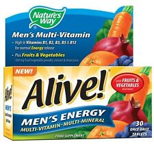 Natures Way Alive Mens Energy Multi Vitamin & Mineral 30 One a Day Tablets