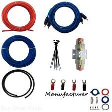 Car Subwoofer Audio System 10 Gauge Amplifier Installation Wiring Power Sub Kit