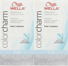 Wella Color charm 2x T18 Lightest Ash Blonde Hair Toner