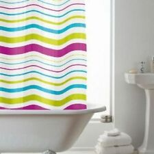 Rideaux de douche bleus pour salle de bain