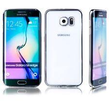 Premium TPU custodia protettiva ARGENTO per Samsung Galaxy S6 bordo PLUS G925F