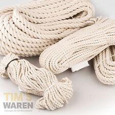 Baumwollseil gedreht 5mm bis 20mm Baumwoll Seile Bondageseil Naturseile 50m