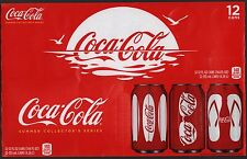 Coca Cola Cardboard 12-Pack Can Case - 2011 Cans of Summer Edition A