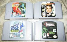 Lot of 4 Nintendo 64 Games Rainbow 6 Twisted Edge Extreme 2 Golden Eye 007